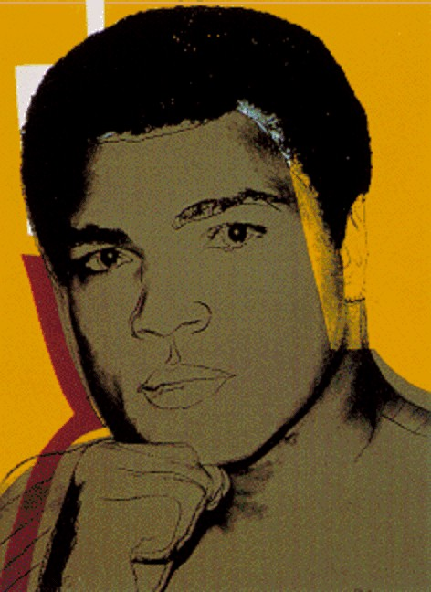 famous painting Ali of Andy Warhol