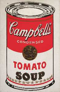 Andy Warhol - Campbell'S soupe can ( tomate )