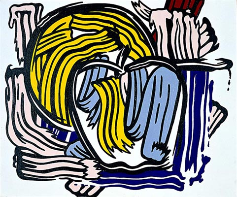famous painting Apple et pamplemousse of Roy Lichtenstein