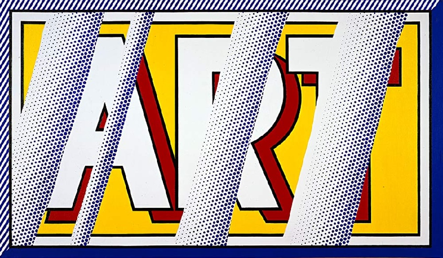 famous painting réflexions art of Roy Lichtenstein
