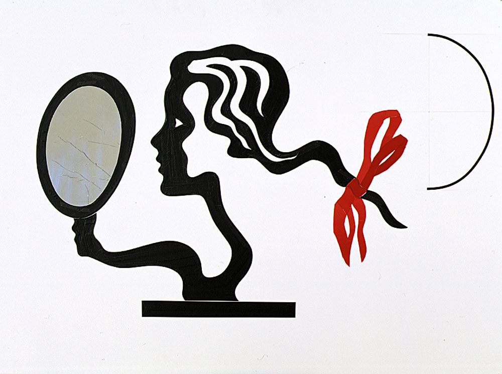 famous painting collage pour femme miroir of Roy Lichtenstein