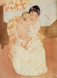 Mary Stevenson Cassatt - Maternelle Caress