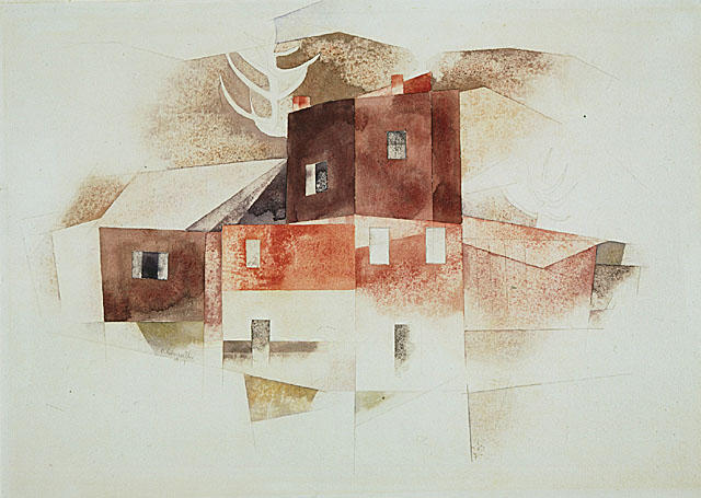 famous painting vieux maisons of Charles Demuth