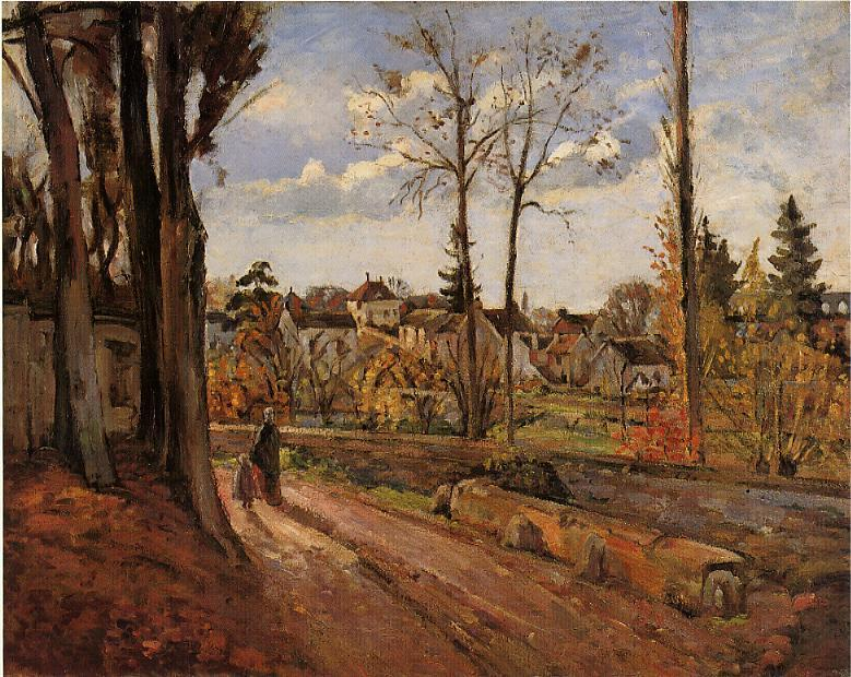 famous painting Louveciennes of Camille Pissarro