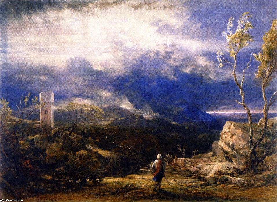 famous painting Christian descendant dans la vallée de l humiliation of Samuel Palmer