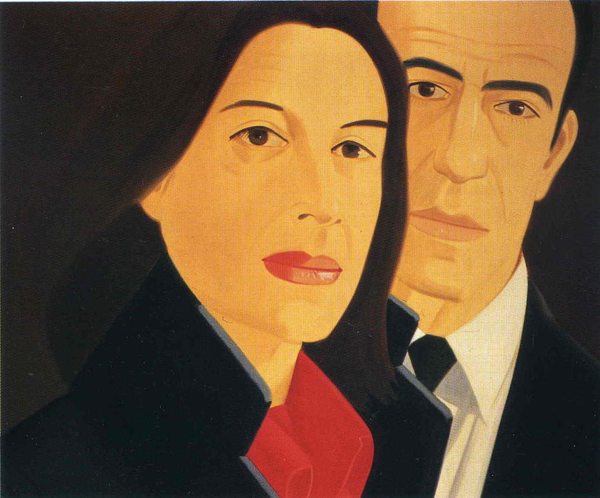famous painting Ada Et Alex of Alex Katz
