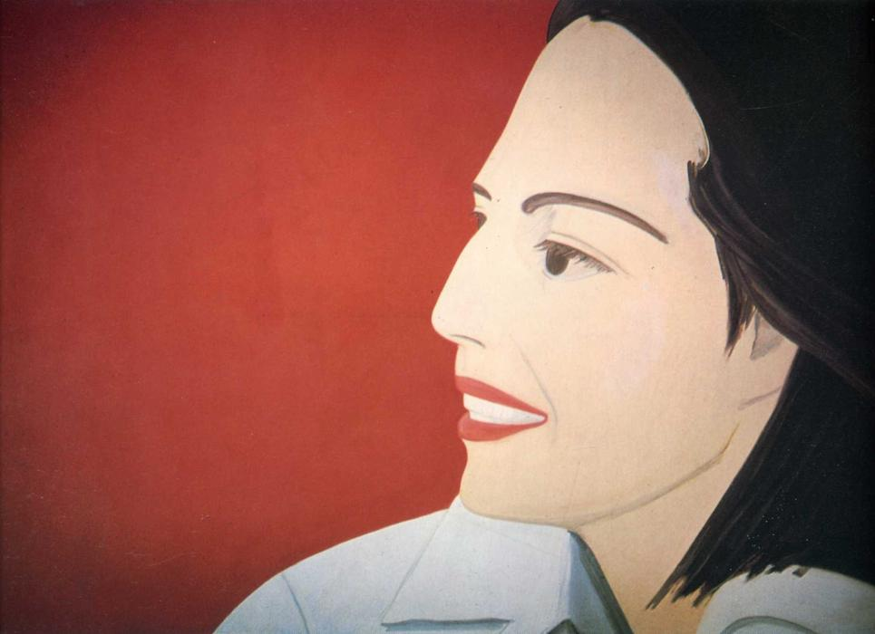 famous painting le rouge sourire of Alex Katz