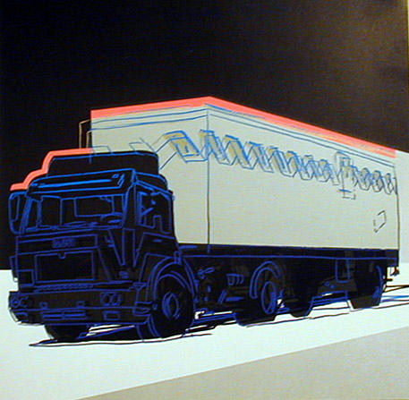 famous painting Annonce Camion of Andy Warhol