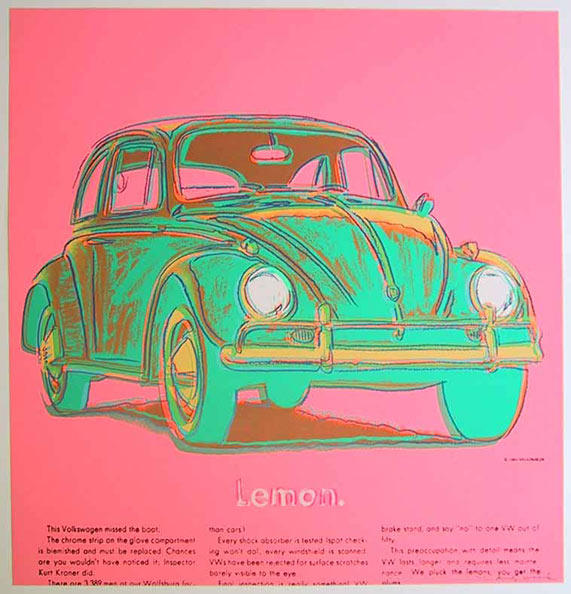 famous painting Volkswagen of Andy Warhol