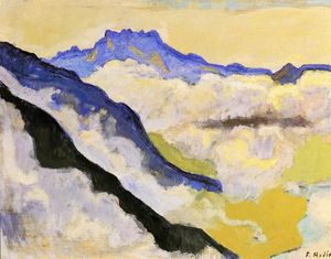 Ferdinand Hodler - Dents du Midi dans Clouds