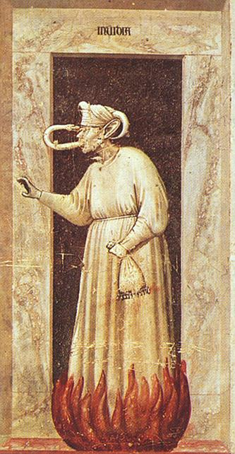 famous painting Envie of Giotto Di Bondone