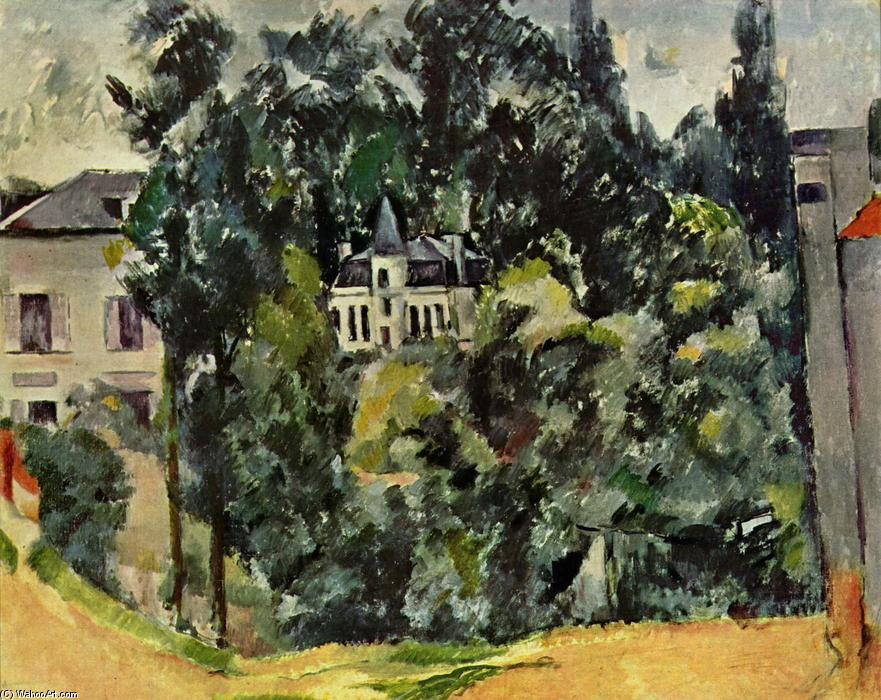 famous painting Château of Marines of Paul Cezanne