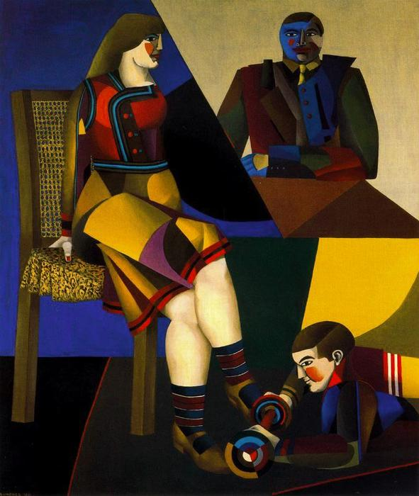 famous painting Le tableau of Richard Lindner