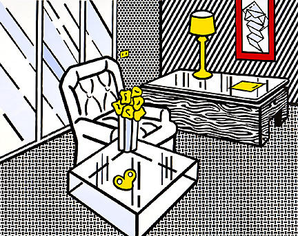 famous painting la tanière of Roy Lichtenstein