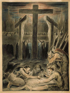 William Blake - Les soldats tirant au sort pour les vêtements du Christ