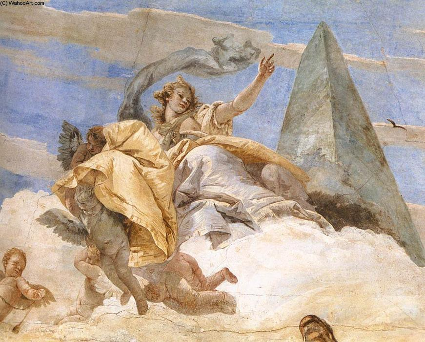 famous painting Bellerophon sur Pegasus (détail) of Giovanni Battista Tiepolo