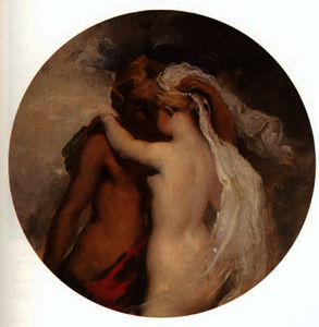 William Etty - Nymphe et Satyre