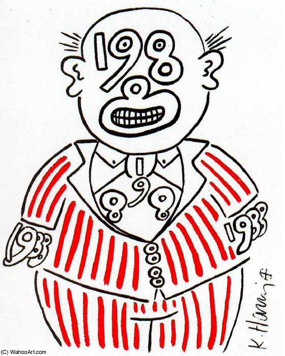 famous painting sanstitre 873   of Keith Haring