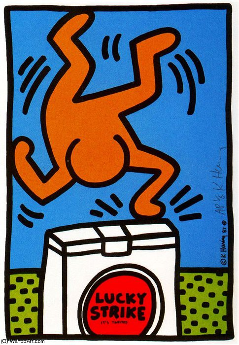 famous painting sanstitre 161   of Keith Haring