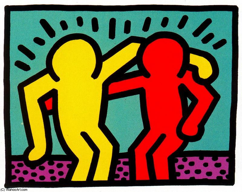famous painting sanstitre 992   of Keith Haring