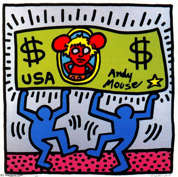 famous painting sanstitre 102   of Keith Haring