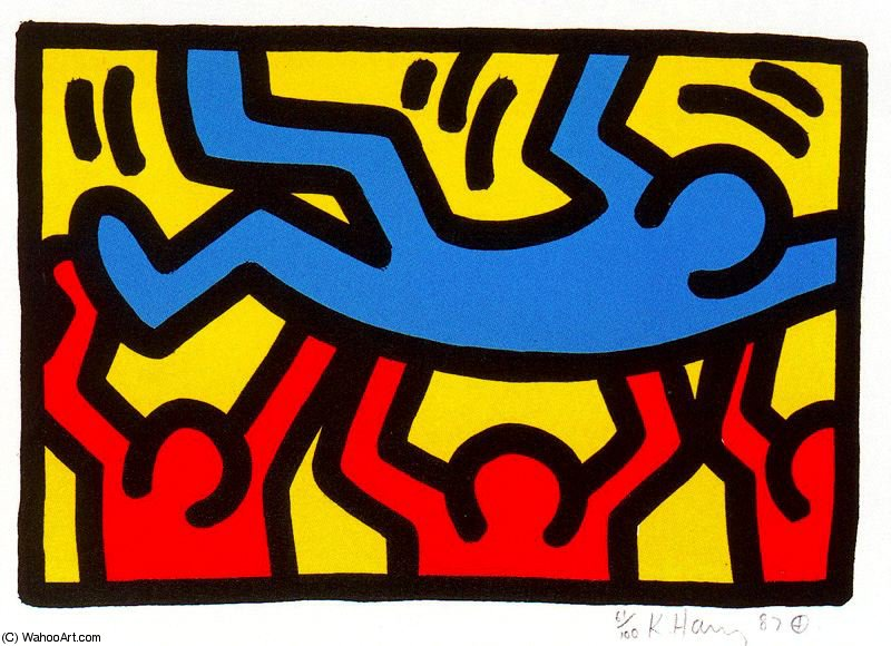 famous painting sanstitre 812   of Keith Haring