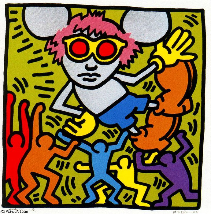 famous painting sanstitre 731   of Keith Haring