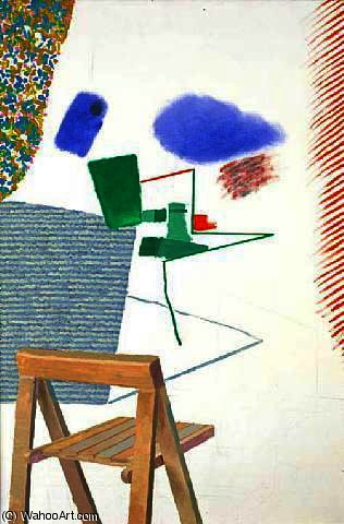 famous painting chaise photographie  of David Hockney