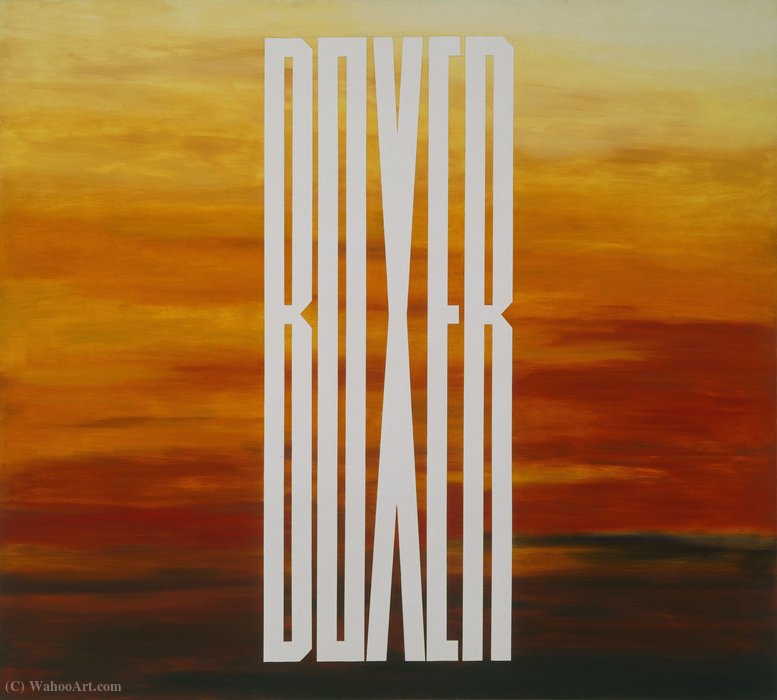 famous painting Boxeur of Edward Ruscha