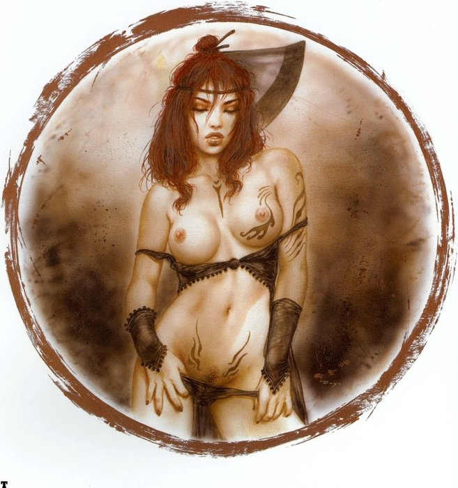 famous painting Untitled (713) of Luis Royo