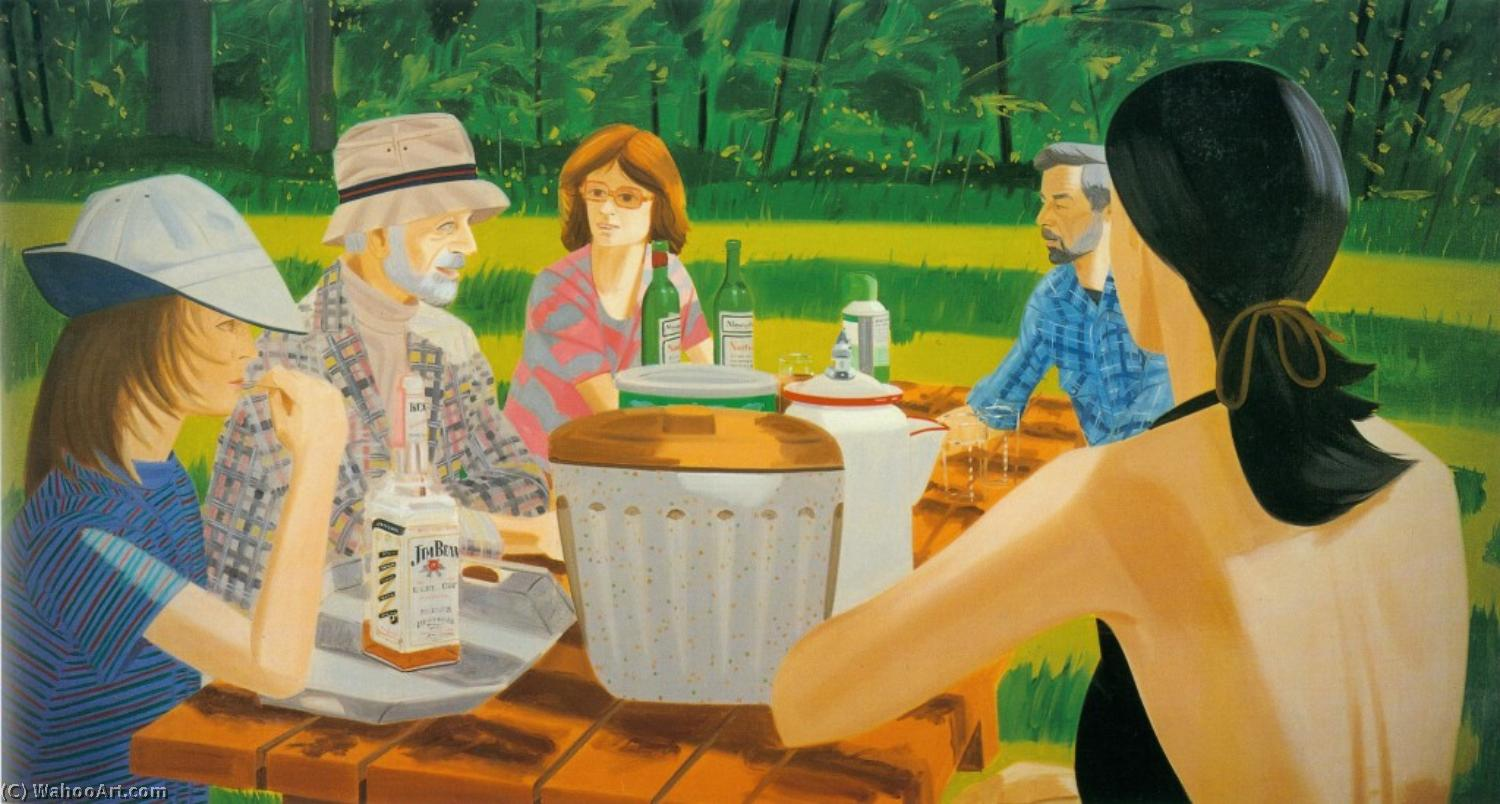 famous painting été pique nique  of Alex Katz