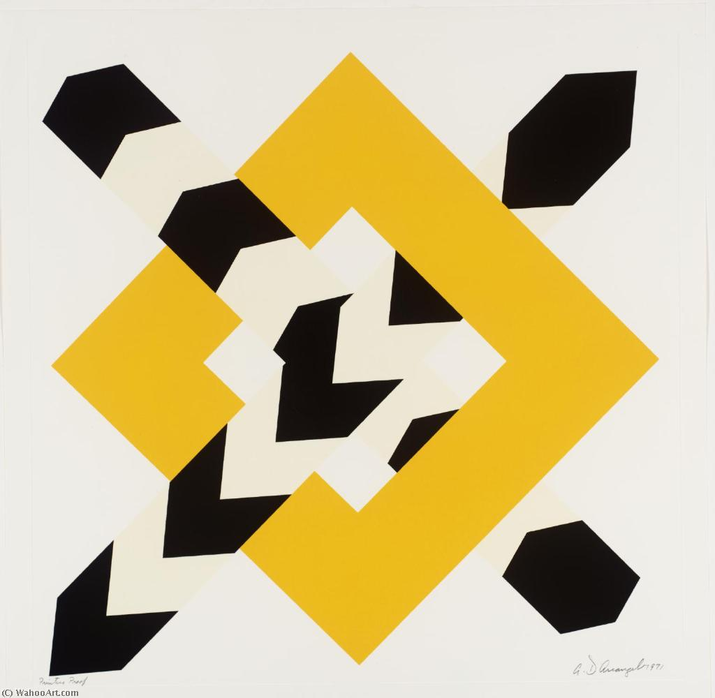 famous painting constellation iv of Allan D'arcangelo