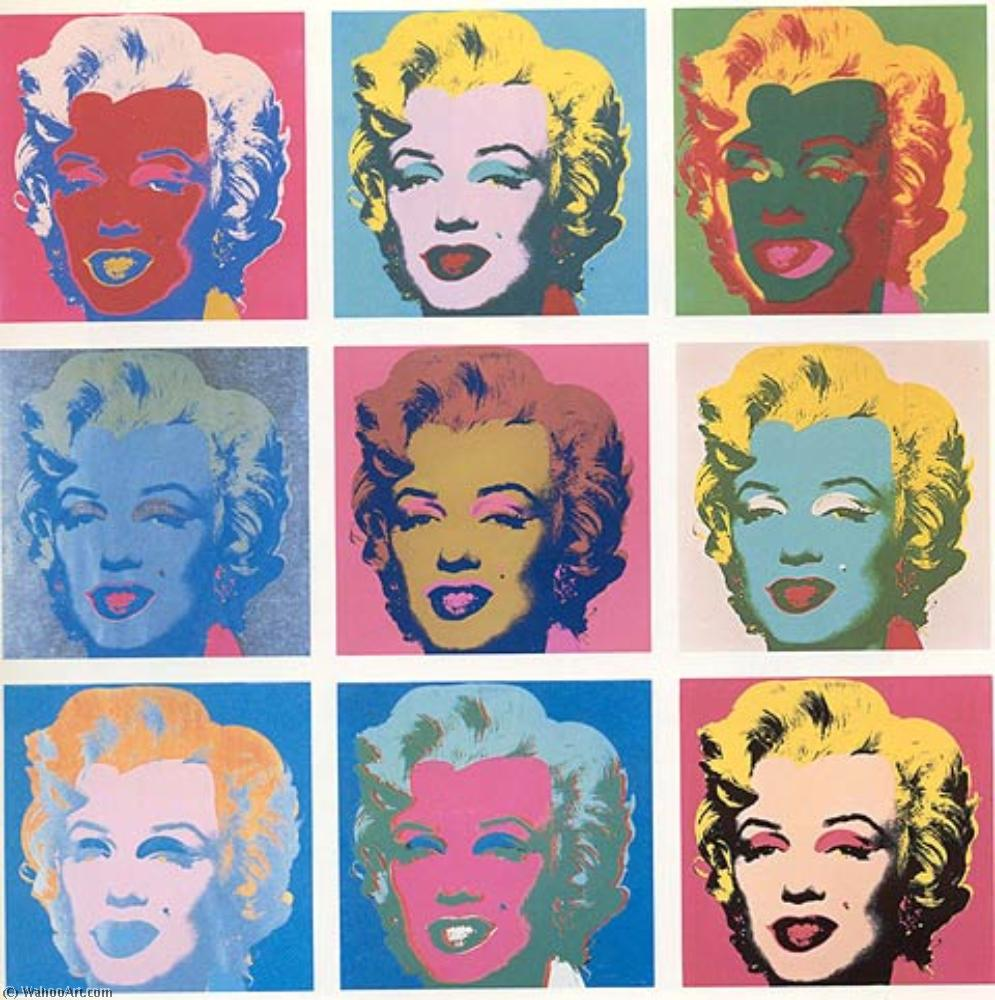 famous painting Marilyn Diptyque of Andy Warhol