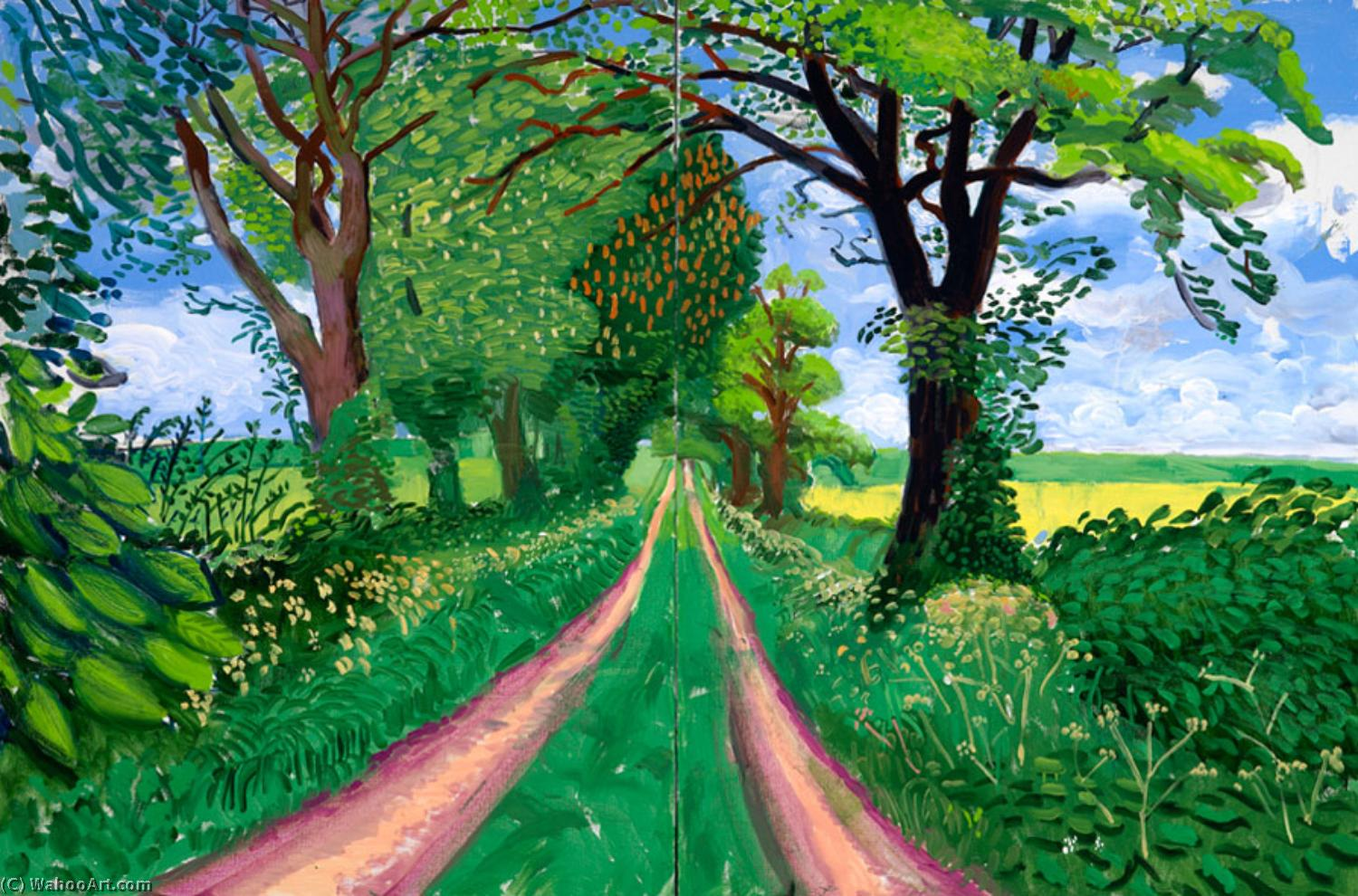 | Tunnel de fin du printemps de David Hockney | BuyPopArt.com