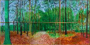 David Hockney - Woldgate Bois III