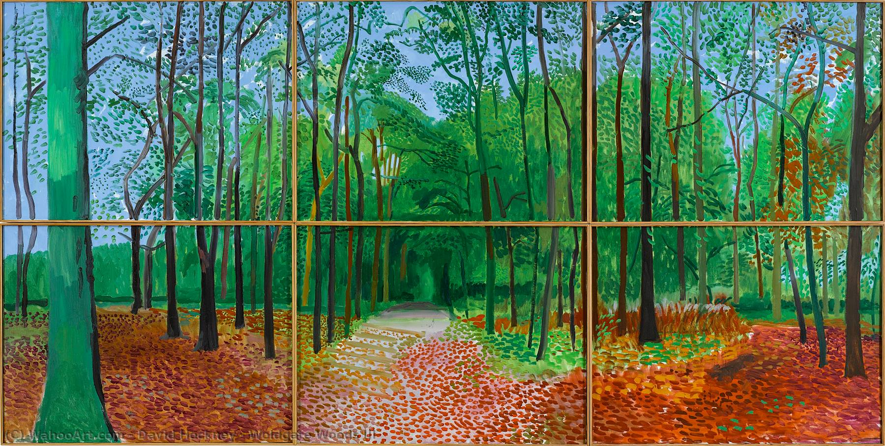 famous painting Woldgate Bois III of David Hockney