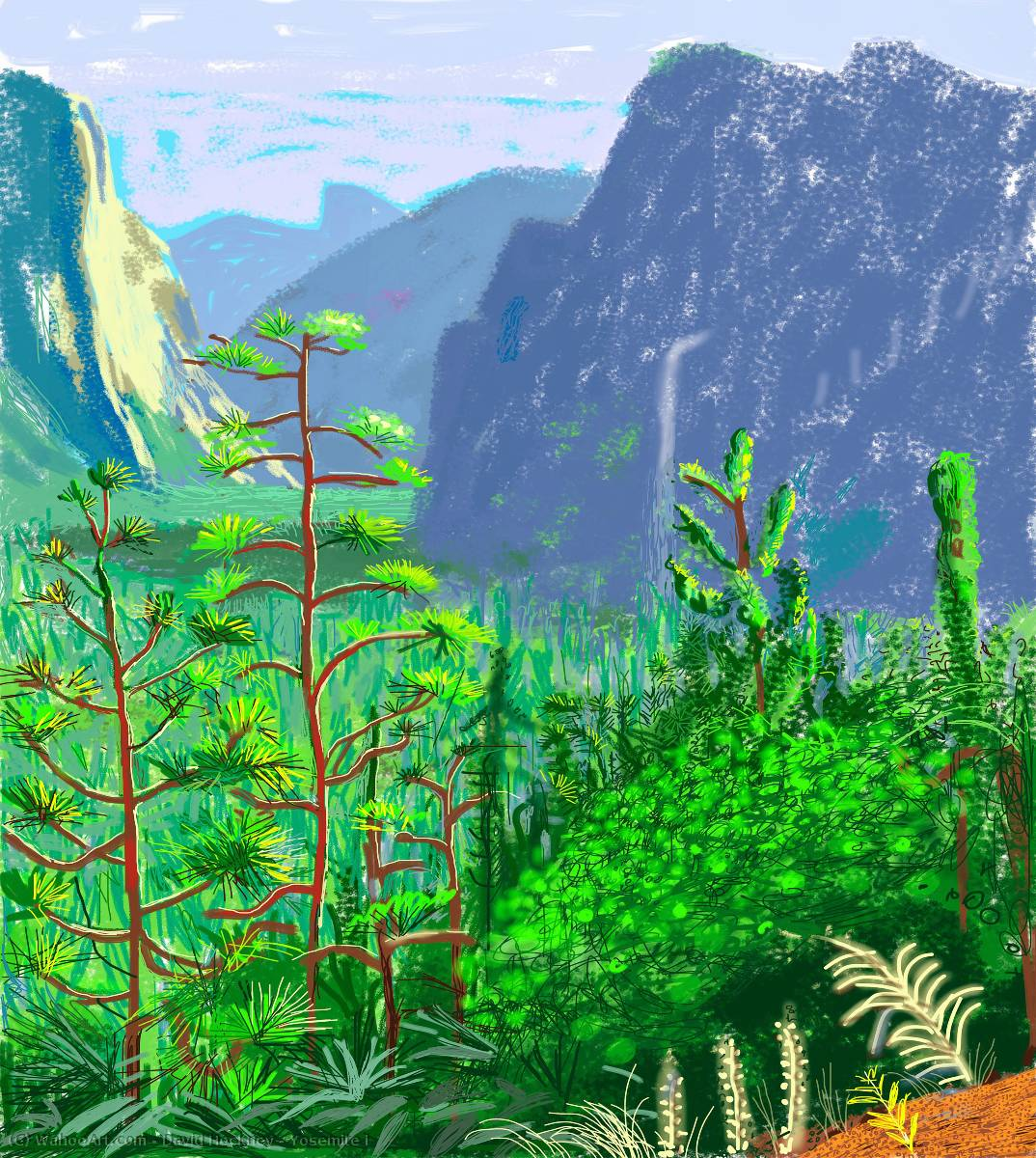 famous painting Yosemite je of David Hockney