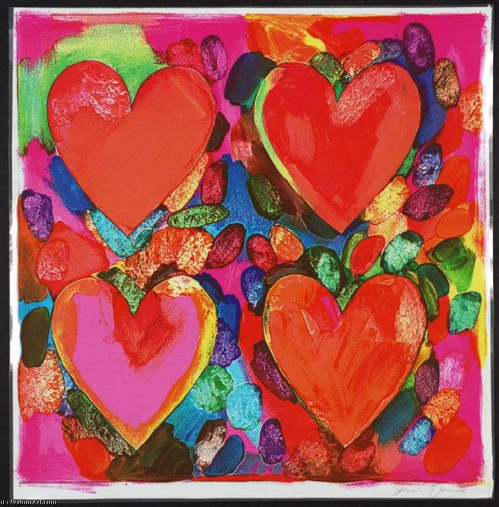 famous painting quatre coeurs  of Jim Dine