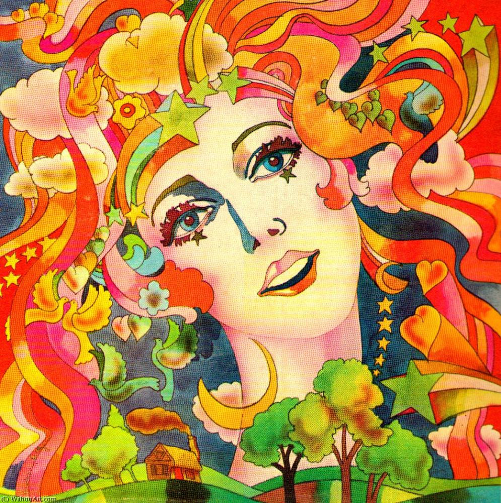famous painting fille à of Peter Max