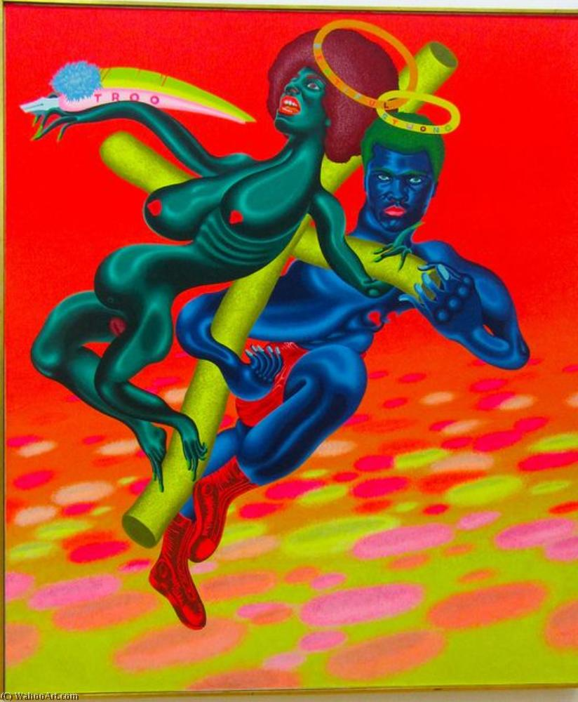 famous painting bewtiful et stwong of Peter Saul