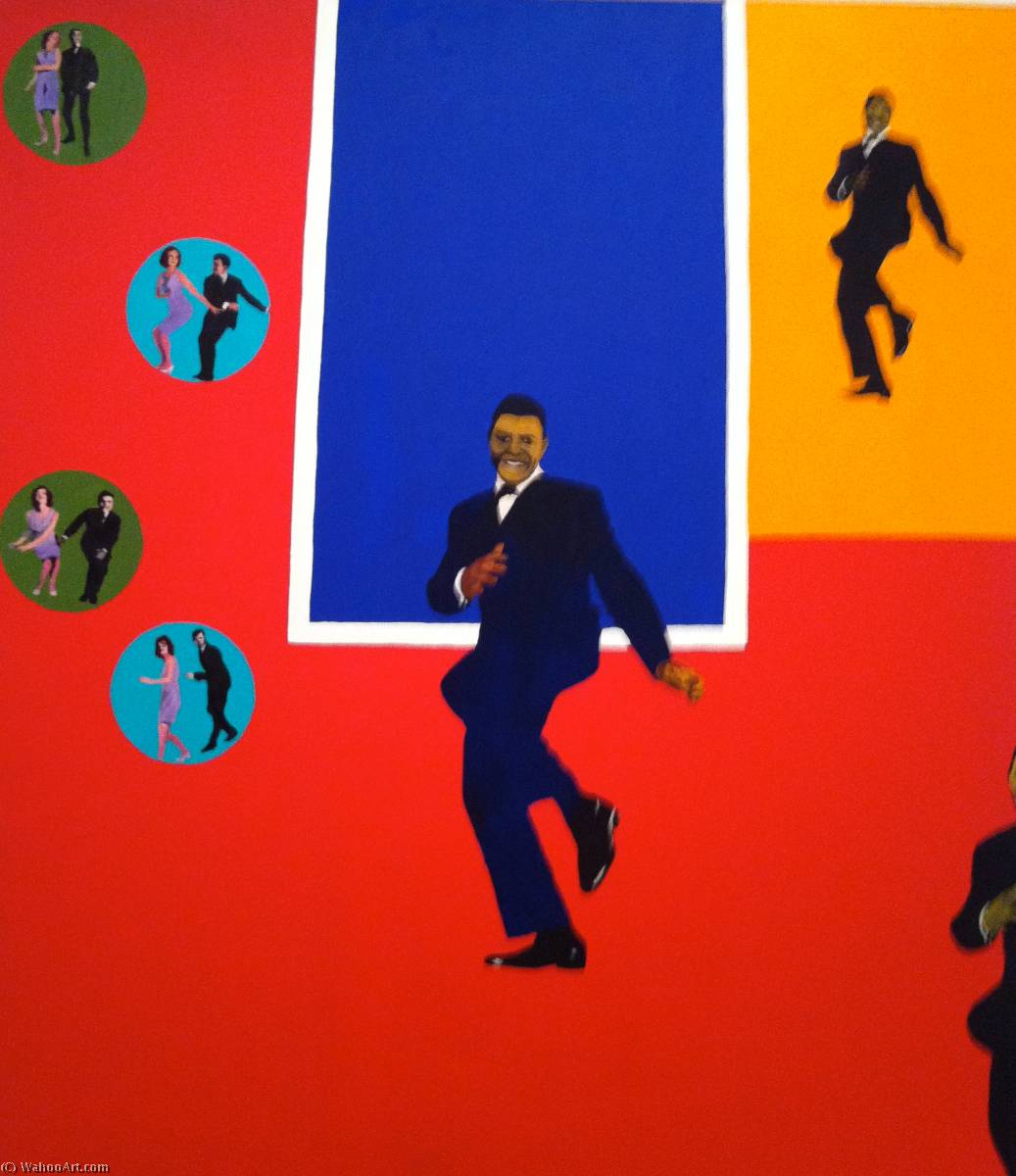 famous painting Checker chubby of Rosalyn Drexler