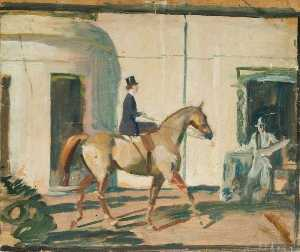 Alfred James Munnings - Étude pour 'Our ami commun le Horse' ( recto )