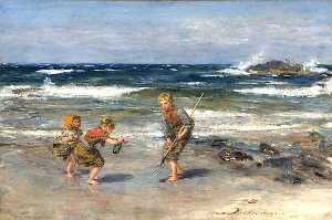 William Mctaggart - un message issus  au  mer