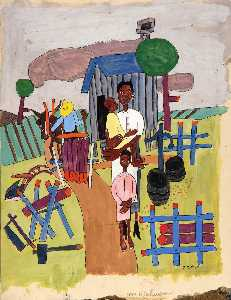 William Henry Johnson - famille agricole