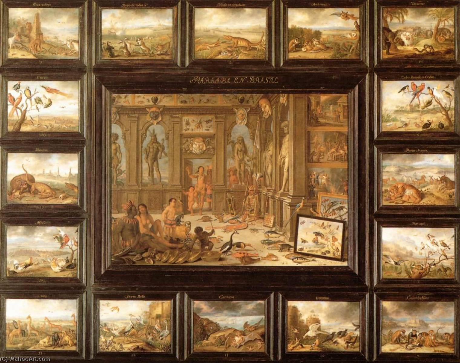 famous painting au continent que  de  amérique  of Jan Van Kessel The Elder