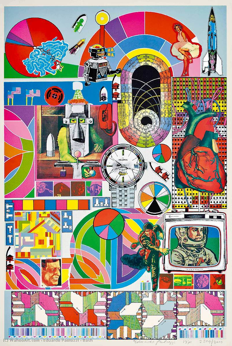 famous painting Frapper of Eduardo Paolozzi